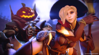 Mercy Gets banged By The Pumpkin Reaper Doggystyle
