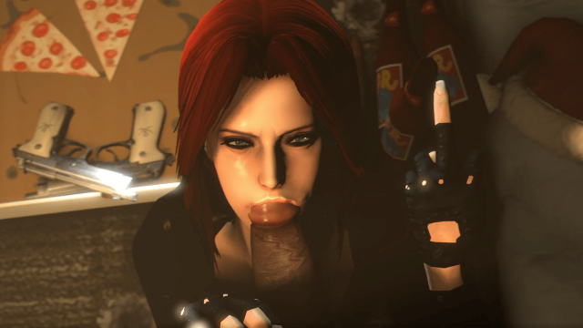 Revy Blows Ungrateful Pervs BBC While Giving A Middle Finger